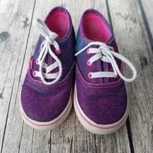 Purple Iridescent Glittery Vans